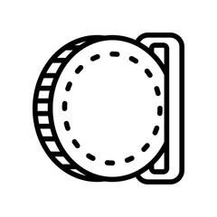Business and eCommerce icons - insert coin (Outline)