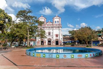 Church of Our Lady of Carmen in Guatape, Colombia