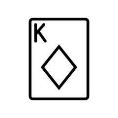 Casino & Gambling icons - Playing Card King of Diamonds (Outline)