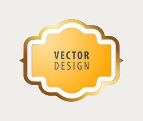 High Quality Luxury Frame on Gray Background . Vector Isolated Illustration