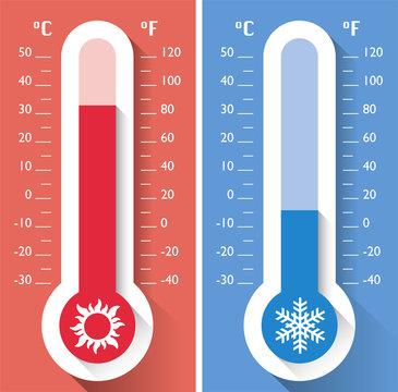 Termometro, temperatura, strumento per misurare le temperature calde e fredde, meteorologia