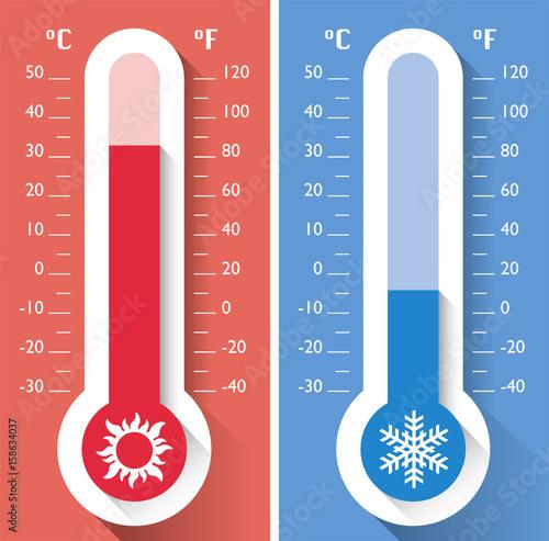 Termometro Temperatura Strumento Per Misurare Le Temperature Calde E Fredde Meteorologia