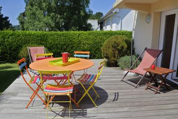 terrasse avec jardin maison en Bretagne