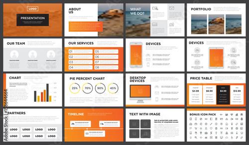 minimal modern orange and yellow gradient presentation template, Presentation templates