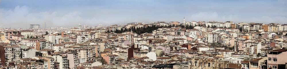 panorama of dense city in Istanbul