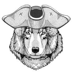 Wolf Dog pirate hat Cocked hat, tricorn Sailor, seaman, mariner, or seafarer