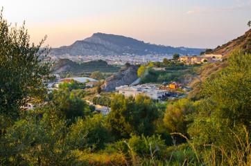Zakynthos town from olives plantation, Greece