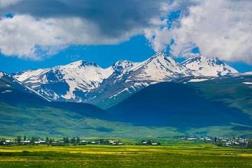 Beautiful view of Mount Aragats, Armenia