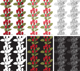 Seamless pattern red roses