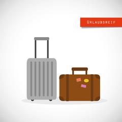 urlaubsreif zwei reisekoffer