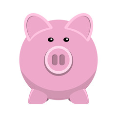 vector icon of pig bank