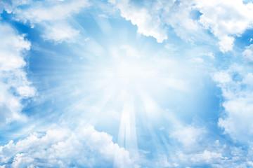 Canvas Prints Heaven Sun in sky