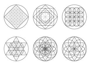 Sacred Geometry. Crossing lines.