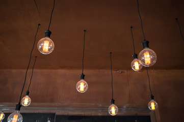 Hanging Edison Lightbulbs