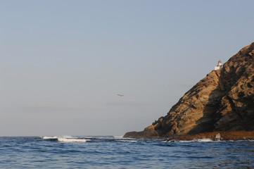 Lighthouse on south Coronado Island Baja Mexico