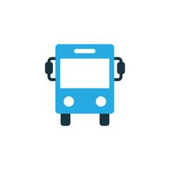 Autobus Colorful Icon Symbol. Premium Quality Isolated Bus Element In Trendy Style.