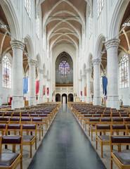 Wealthy interior of the late Gothic Saint-Katharina church Hoogstraten, Belgium.