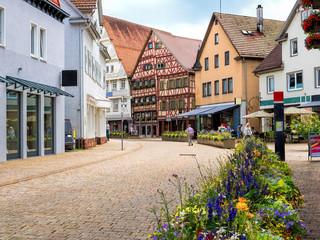 Stadtmitte von Nagold, Baden Württemberg, Schwarzwald