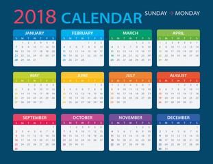 2018 Calendar - illustration