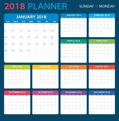 2018 Planner - illustration