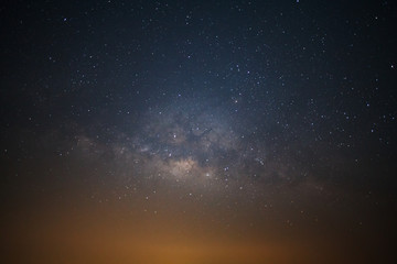 milkyway galaxy with stars and space dust in the universe