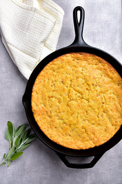 Southern Cornbread in Cast Iron Pan