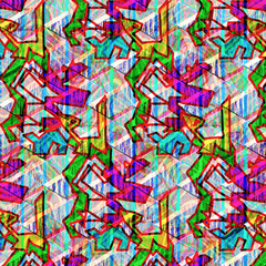 Colorful Graffiti Background  Grunge Texture