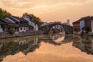 Ancient town of Wuxi,Jiangsu Province,China