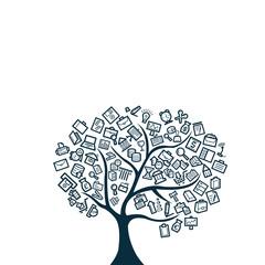 Business Tree Vector Template Design