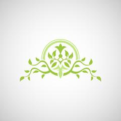 Abstract tree vector logo design template.