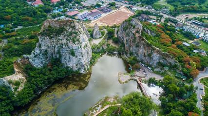 Khao Ngu Stone Park at Ratchabri, Thailand
