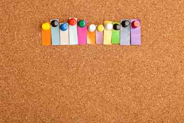 Cork board and colorful heading for eleven letter word