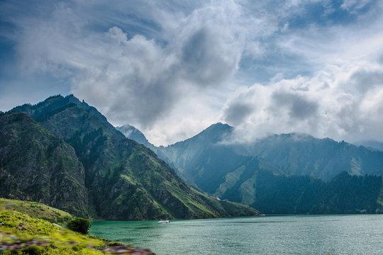 Tianshan Tianchi Lake in Urumqi,Xinjiang,China