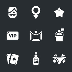 Vector Set of Man Club Icons.