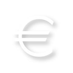 Icon mit Schatten - Euro Währung