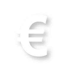 Icon mit Schatten - Euro