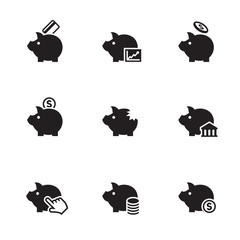 Piggy bank icons