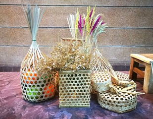 Thai  traditional Basket weave