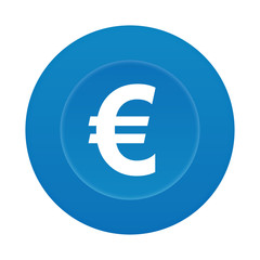 Runder 3D Button - Euro - Geldschein