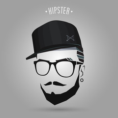 young hipster cap