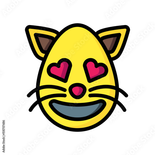 Emoji Icons - Love Cat - (Ultra Color)