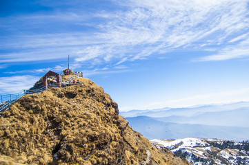 Wallpaper landscape blue sky mountain rock snow temple