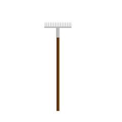 Rake gardening tool fam icon vector ilustration
