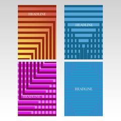 Minimal covers design geometric halftone gradients set eps 10 vector
