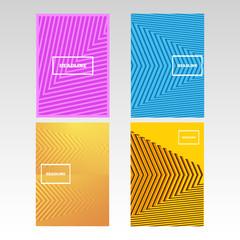 Minimal covers design A4 geometric halftone gradients set eps 10 vector