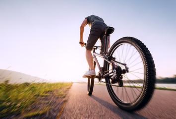 Speedy bicyclist