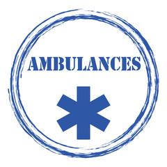 Logo ambulances.