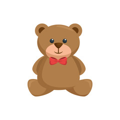 Teddy bear toy icon vector illustration graphic design