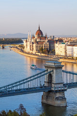 Foto op Canvas Boedapest Hungarian parliament in Budapest on the Danube river