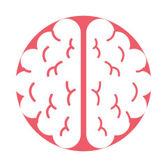 brain organ human icon vector illustration design